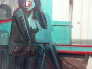 Artist Shilo Ratner, Untitled, Oil on Canvas, Work in Progress