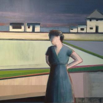"""Five Houses"", 36"" x 36"", Oil Paint on Canvas"