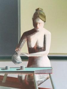 """""""Mindfulness of Tea"""", 48"""" x 36"""", Oil Paint on Panel"""