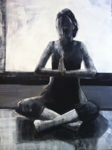 Artist Shilo Ratner_Finding Balance_22inx30in_Work on Paper_Pencil, Ink and Acrylic