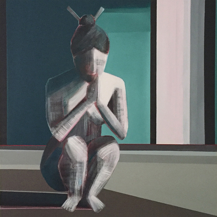 "Artist Shilo Ratner,""Essence"", 48"" x 48"", Oil Paint on Canvas"