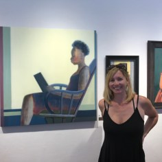 "Shilo Ratner in front of her painting ""Leisure""."