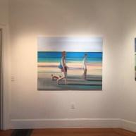 """Beach Walk, 48 x 60"""", Oil on Canavas"""