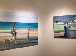 """Beach Walk"" and ""Five Houses""; Oil on Canvas"