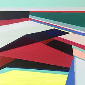 "Unbound, 5 x 5"", Acrylic on Panel"