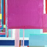 "Experiment, 5 x 5"", Acrylic on Panel"