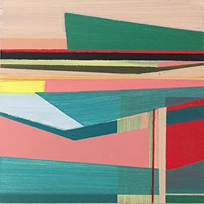 "Seascape, 5 x 5"", Acrylic on Panel"