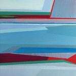 "Walk in Silence, 5 x 5"", Acrylic on Panel"