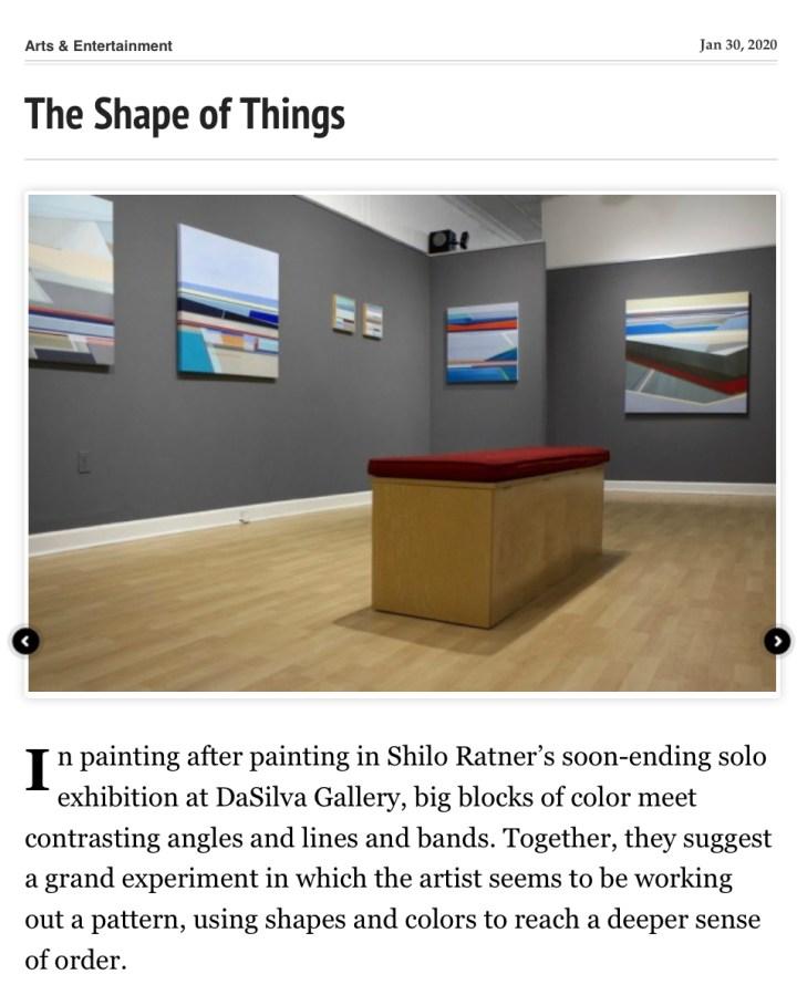 Shilo Ratner 2020 DaSilva Gallery Exhibition