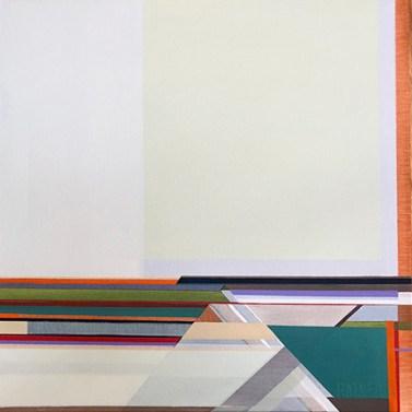 "Artist Shilo Ratner Painting ""Fields"""