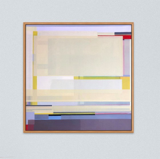 Artist Shilo Ratner, Golden, 20 inches x 20 inches, Acrylic Paint on Canvas