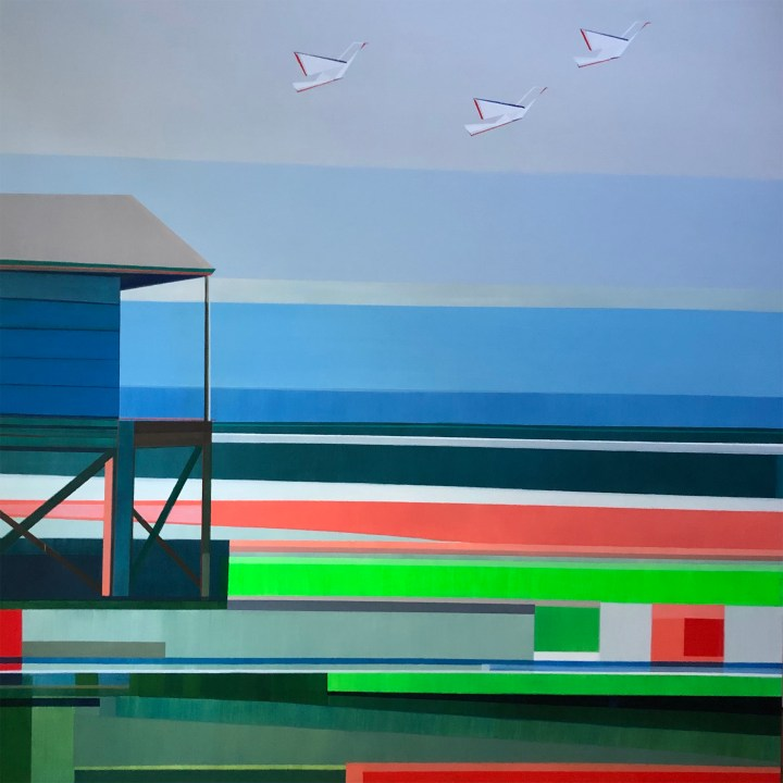Artist Shilo Ratner_ Long Island Sound created for Charter Communications, Stamford Project.