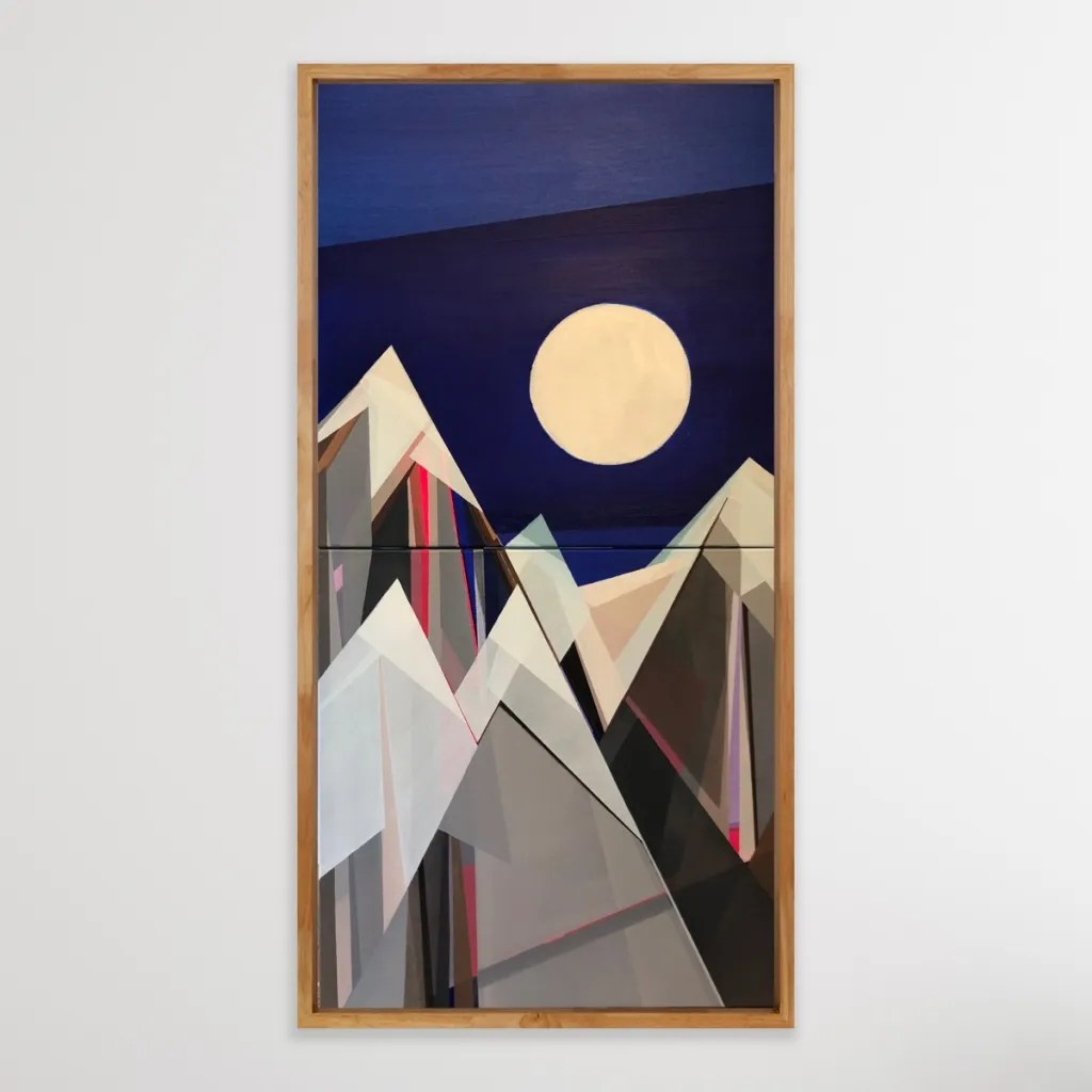 """Artist Shilo Ratner, Moonlight Mountain, 40"""" H x 20"""" W, Email to Collect shiloratner@gmail.com"""