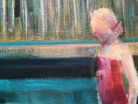 "Close Up_Artist Shilo Ratner_BlueBucket_36""x36"""