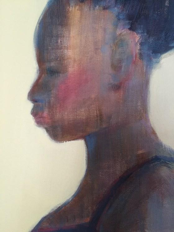 Closeup_Aritst Shilo Ratner_Leisure_36 x 36 _ Oil on Canvas