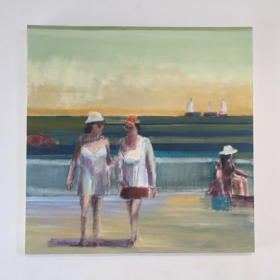 "Artist Shilo Ratner, Sisterhood, 36"" x 36"", Oil on Canvas"