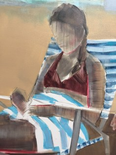 "Artist: Shilo Ratner, Detail: Cape Cod Days inprogress, 48"" x 36"", Oil on Canvas"