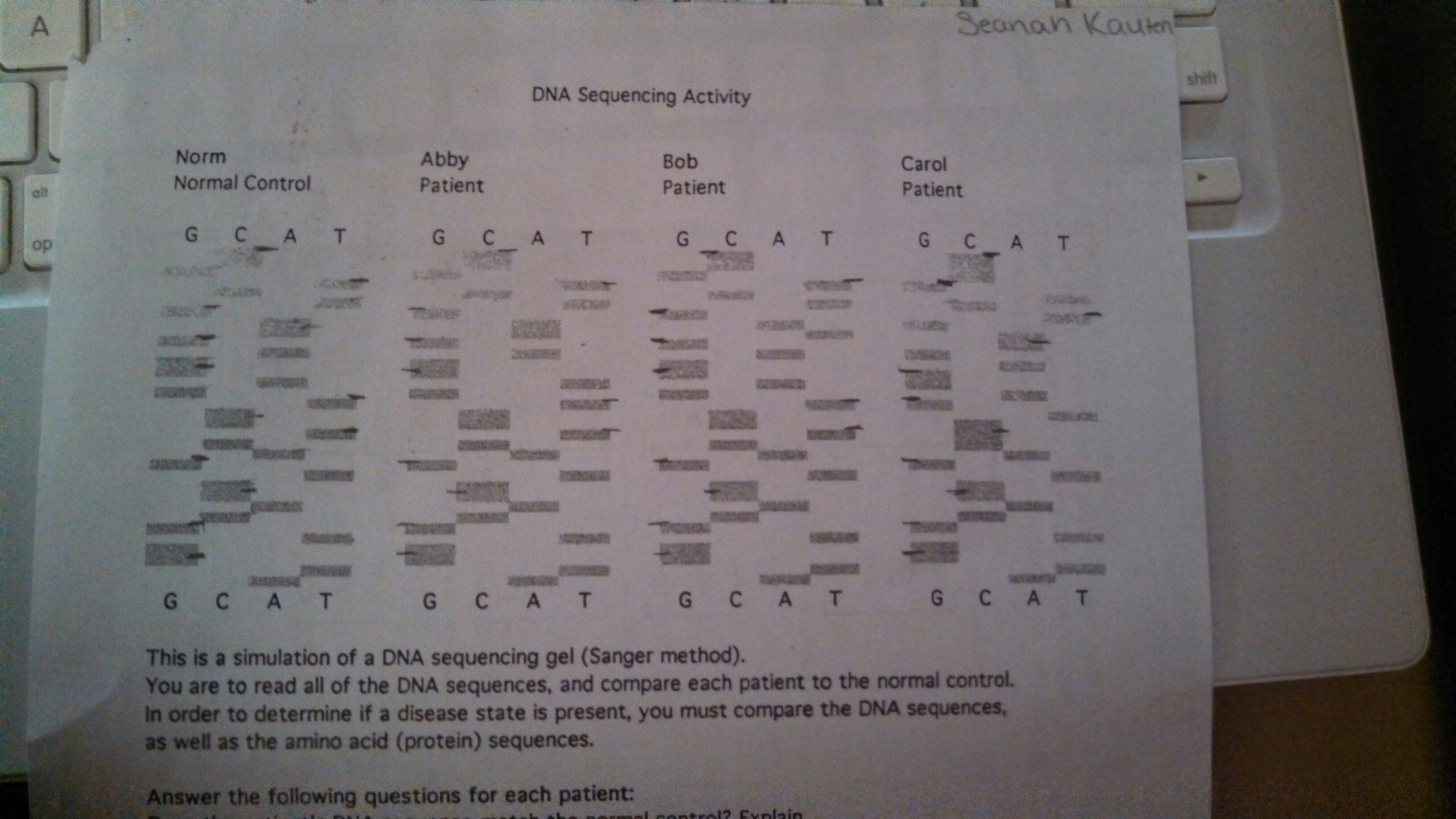 Old School Dna Sequencing Activity
