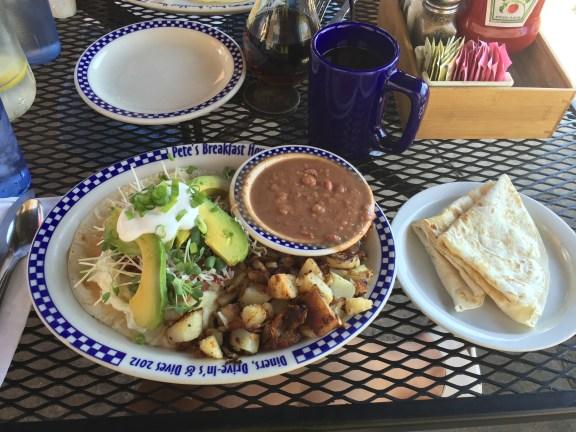 Pacific Coast Highway Stop 1: Breakfast at Peet's Breakfast House | Best Tex-Mex Style breakfast yet!