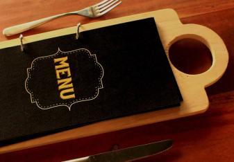 Zu Tisch Menu Design (Cover)