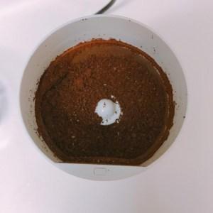 コーヒー豆を挽きました