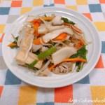 厚揚げと豚バラ肉の野菜炒め