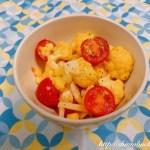 カリフラワーとミニトマトの塩レモンサラダ