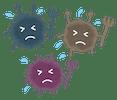 やっつけられた細菌(ばい菌・ウイルス・悪玉菌)