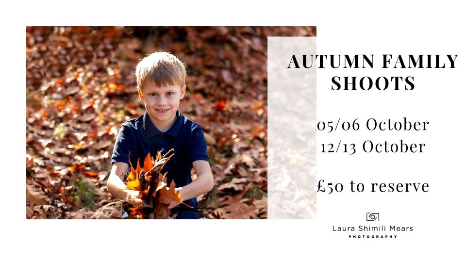 Autumn family shoots, Tooting photographer now booking