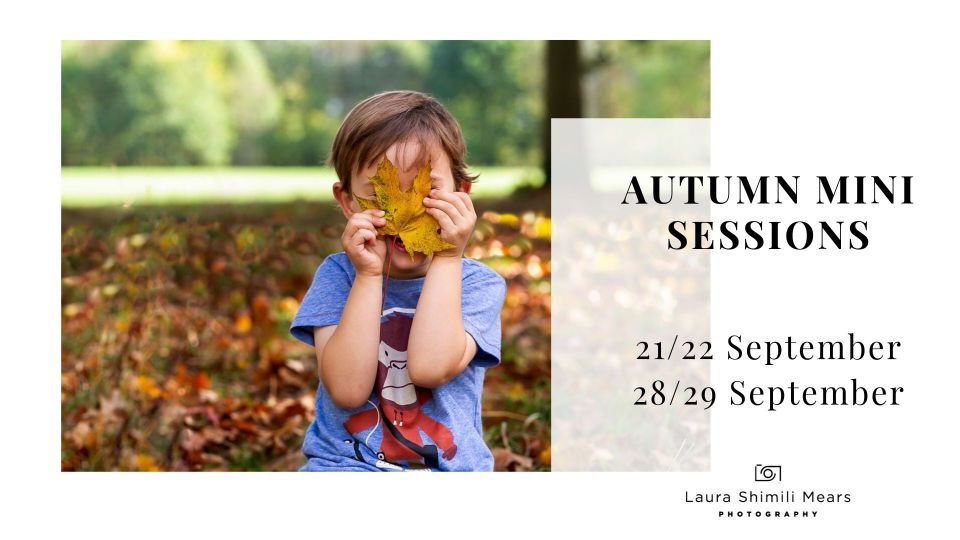 Autumn Mini Sessions, Wandsworth Photographer now booking!