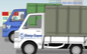 軽トラック2台が走る