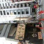 杉並区高円寺北:整骨院の袖看板の蛍光灯交換