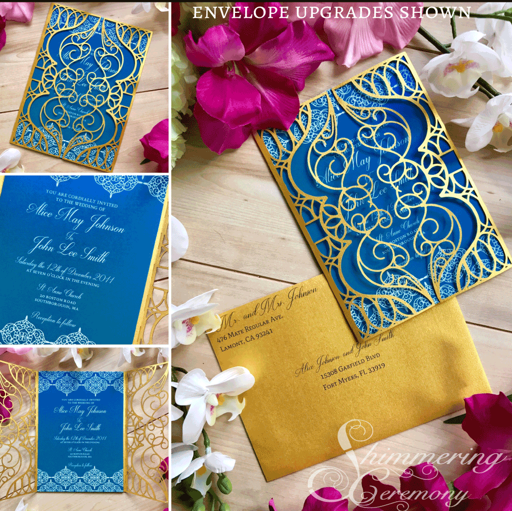 Moroccan Laser cut Wedding Invitation