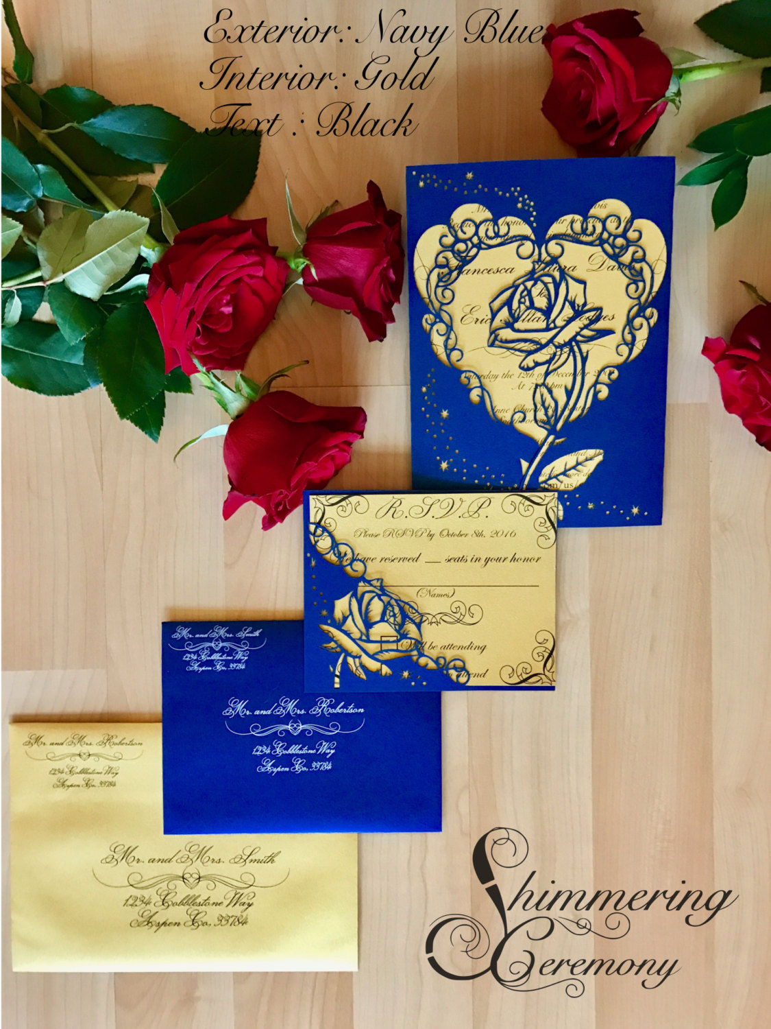 Beauty And The Beast Inspired Rose Gatefold Laser Cut