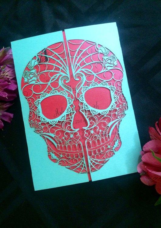 day of the dead skull gate invitation