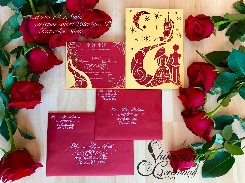 fairytale-wedding-laser-cut-invitation-set-with-rsvp-pocket-bride ...