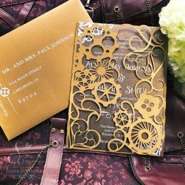 steampunk Wedding Invitations gothic wedding