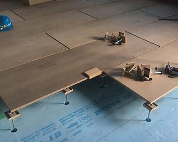 長野市置床乾式二重床の施工について