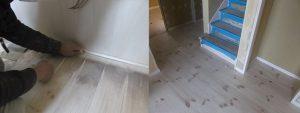 新築のフローリングに問題があれば、それも問題ですよね!しっかりと工場ラインの塗装面をサンディングにて削り落としていきます