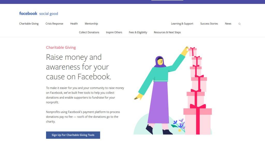 facebook fund raising tools