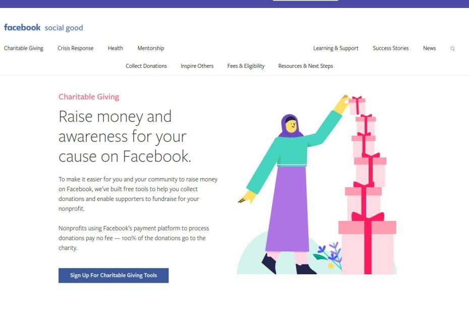 facebook fundraiser India
