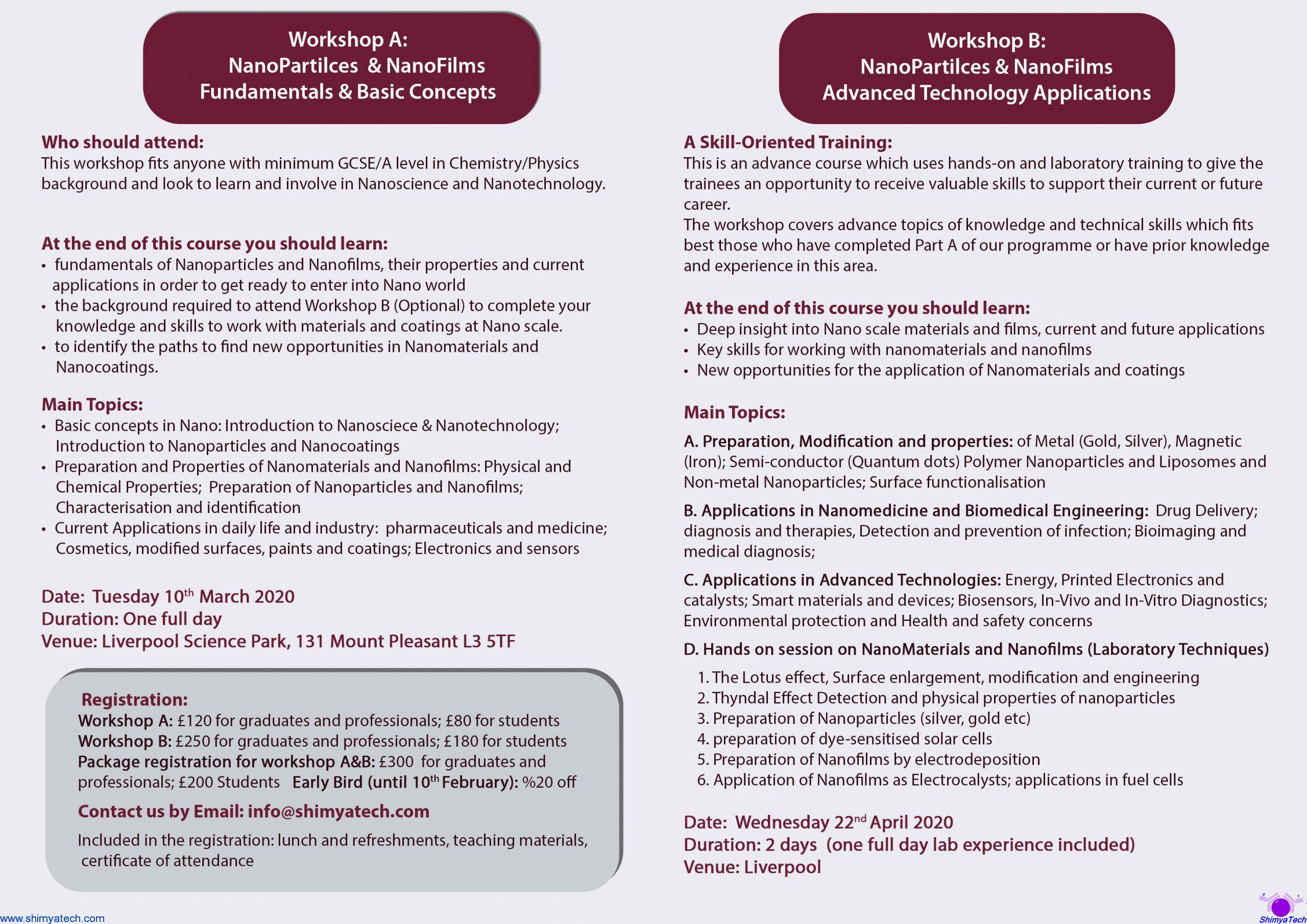 Welcome to NanoWorld - Training Programme - Leaflet2