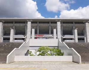 9月17日(土)の試合は午前中から日産スタジアムの西ゲート(小机駅寄り)へ