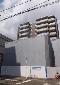 朝日技研工業の旧本社で進むマンション工事