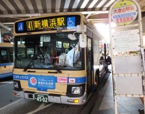 市内の路線バスには選挙の開催を告げる横断幕も。どこまで当日までに盛り上がる?