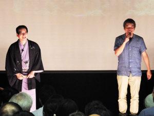 春風亭昇太さんと小机城のジオラマでの復元にも取り組む「城郭復元マイスター」の二宮博志さんによる、中世城郭への想いに満ちたトークが展開された