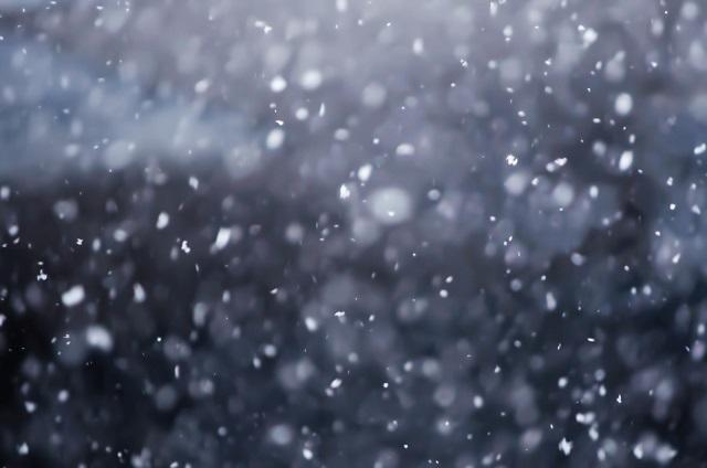 空を舞う雪