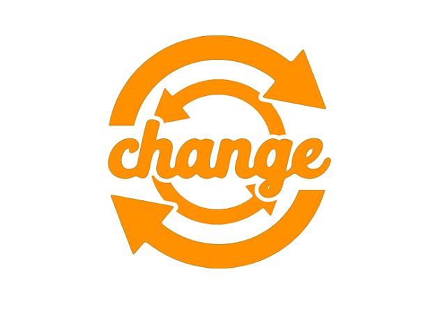 changeの文字と円