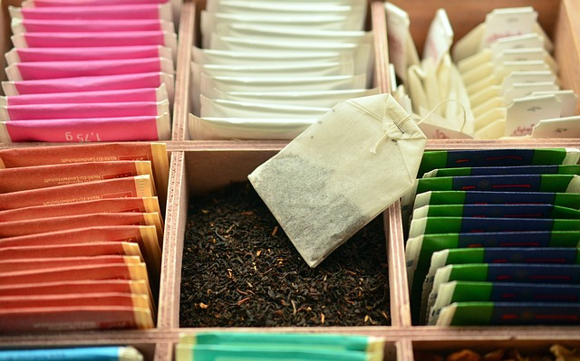 数種類の紅茶のティーパック