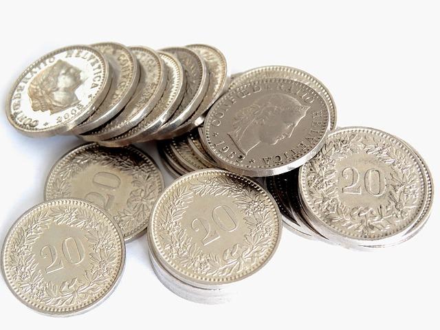 置かれたコイン